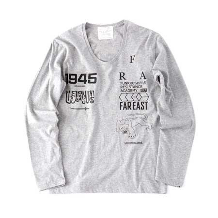 LIBE / FRA U-NECK LONG SLEEVE  [ライブ] Uネック ロングスリーブTシャツ