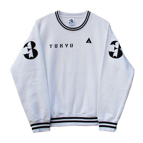 3 (QP) / Waki Poke Tokyo  SWEAT  White (キューピー)  限定生産