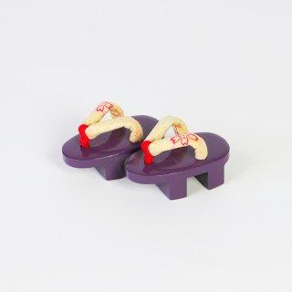 ミニ先細柾上塗り紫花柄