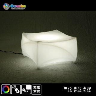 【新型】(選べるリモコン別売り)光るLEDファニチャー(家具)光るテーブル ライトニングローテーブル 59cm×59cm×39cm RGB WiFi RFリモコン対応 充電式 【80304】