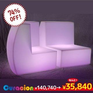 【新型】(選べるリモコン別売り)光るLEDファニチャー(家具)光るイス ライトニングチェア 77cm×70cm×77cm RGB WiFi RFリモコン対応 充電式 【80402】