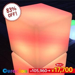 【1年間保証】光るLED内蔵家具 キューブ 60cm フルカラー WiFi機能 無線充電式 (リモコン別売り) 【80206】