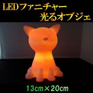 光るLEDファニチャー(家具)オブジェライト  キャットランプ 13cm×20cm RGB 電池式 リモコン付属【HG-BA005】