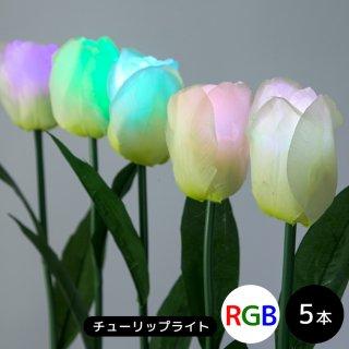 LEDイルミネーション モチーフライト チューリップライト RGB フルカラーオート発光 5本セット 本体のみ【39954】