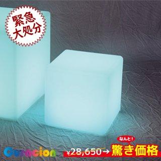 【1年間保証】光るLED内蔵家具 キューブ 20cm フルカラー WiFi機能 無線充電式 (リモコン別売り) 【80200】