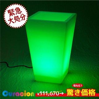 光るLED内蔵家具 フラワーポットM 幅45cm奥行45cm高さ69cm フルカラー 有線式 (リモコン付属) 【81504】