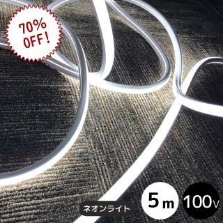 【限定特価】LEDイルミネーション ネオンライト 5メートル ホワイト 電源コード付き【40034】