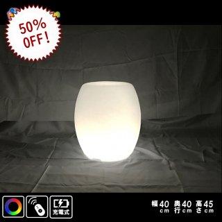 光るLED内蔵家具 スツールチェア 幅40cm奥行40cm高さ45cm フルカラー 充電式 (リモコン付属) 【HG-CH010】