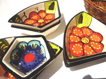 アンダルシアの食卓から☆カゴ付花柄小鉢の6個セット☆VIVA☆