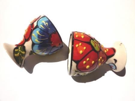 アンダルシアの食卓から☆♪花柄卵スタンド2個セット☆VIVA☆