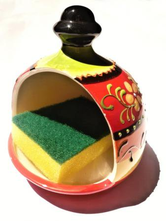 スペインキッチン♪♪陶器のスポンジ置き☆Jardin☆