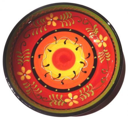 アンダルシアの食卓から☆まあるい花柄の深皿☆Jardin☆中サイズ☆