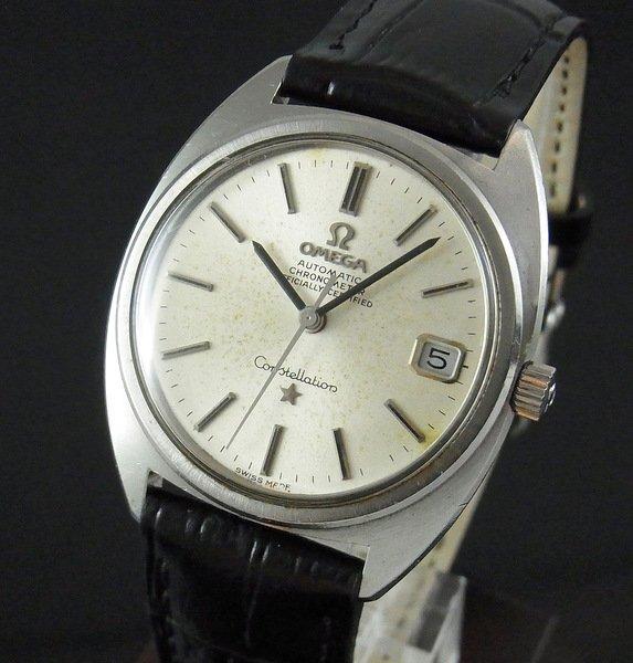 過去の名品達  売切れ 1970年 オメガ アンティーク コンステ クロノメーター cal564 日付【特価】
