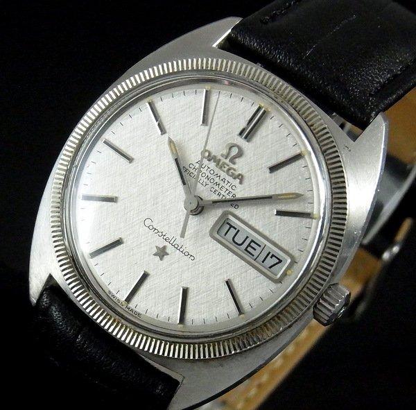 過去の名品達  【特価】1970年 アンティーク オメガ コンステ cal751 Cライン WGコイン
