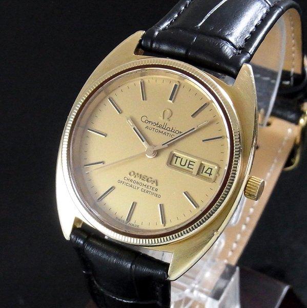 過去の名品達  売切れ 1973年 オメガ コンステ Cライン YGコイン デイ・デイト 1021   【特価】