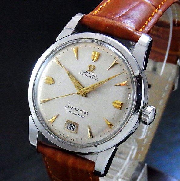 過去の名品達  売切れ 1953年 オメガ シーマスター アンティーク CAl355 ハーフローター 初デイト付【OH済】
