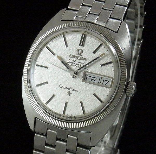 売り切れ 1970年オメガ アンティーク コンステ デイデイト cal751 WGコイン ブレス【OH済】