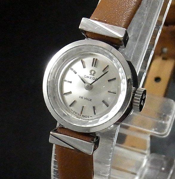 価格別  1970年 アンティーク オメガ カクテル 手巻 カットガラス cal485 デビル【OH済】