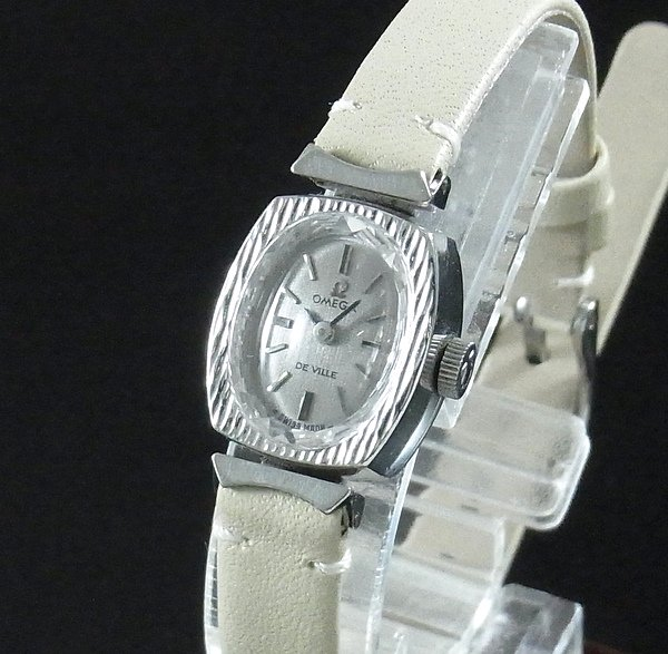 レディース  1970年 アンティーク オメガ デビル cal485 カクテル カットガラス レディース 手巻【OH済】