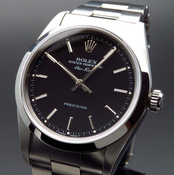 ロレックス - Antique Rolex -   完売 1996年 ロレックス エアキング オートマ 14000 ブラック T番【OH済】【美品中古】