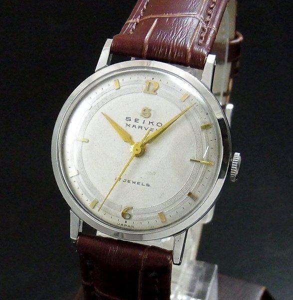 売切れ 1958年製 アンティーク セイコー マーベル Sマーク 17石 手巻 【OH済】