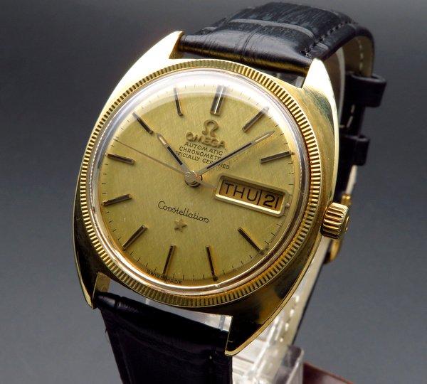 即納品 【OH済】1970年 オメガ アンティーク コンステ デイデイト cal751 YGコイン
