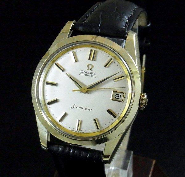 【OH済】1961年 オメガ シーマスター [日付] 自動巻 CAL562 ゴールドキャップ