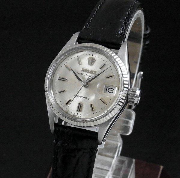 ロレックス -Antique Rolex-   売切れ 【OH済】1962年 アンティーク ロレックス WG ref6517 オイスター パーペチュアル デイト レディース
