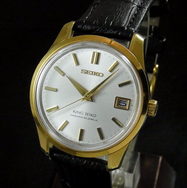 売切れ【OH済】1966年製 キング セイコー アンティーク 4402-8000 盾メダル付 ゴールドキャップ 手巻