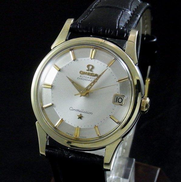 完売 【OH済】1961年 12角 アンティーク オメガ cal561 コンステ クロノ ゴールドキャップ
