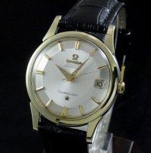 【OH済】1961年 12角 アンティーク オメガ cal561 コンステ クロノ ゴールドキャップ