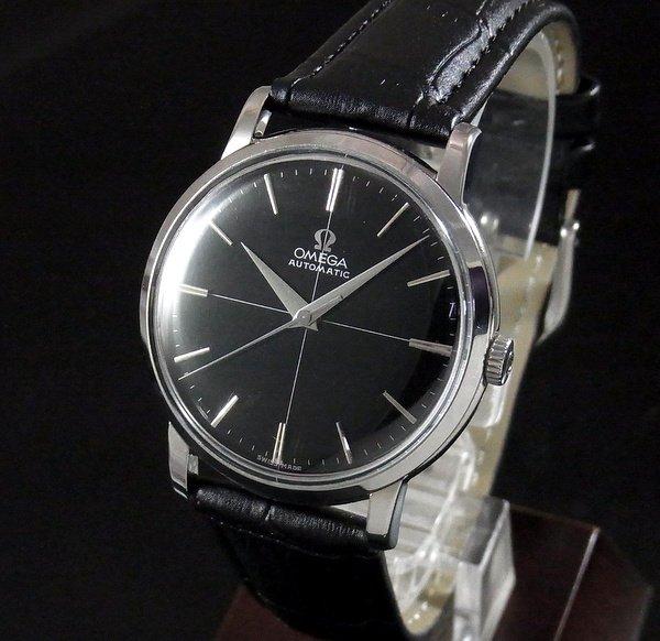 1950年 〜 1959年  【OH済】1958年 オメガ アンティーク CAL501 ブラック クロスライン文字盤 還暦祝い