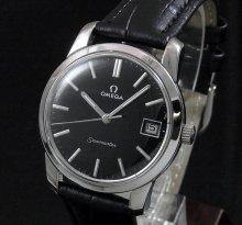 【OH済】1972年 アンティーク オメガ シーマスター CAL613 日付 手巻き ブラック