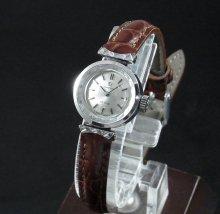 【OH済】1970年 アンティーク オメガ デビル cal485 カクテル カットガラス レディース 手巻