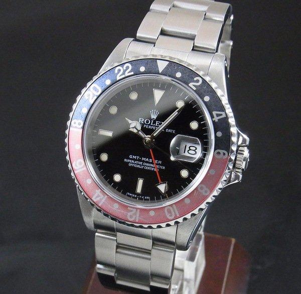ロレックス - Antique Rolex -   1996年 青赤ベゼル ロレックス 16700 GMTマスター T番 SS 中古【OH済】