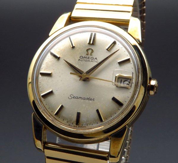 即納品  1966年 アンティーク オメガ シーマスター [日付] 自動巻 CAL565 ゴールドキャップ【OH済】