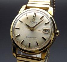 1966年 アンティーク オメガ シーマスター [日付] 自動巻 CAL565 ゴールドキャップ【OH済】