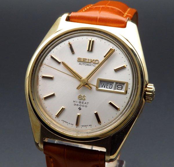 即納品  1968年 グランドセイコー アンティーク 6146-8000 デイデイトゴールド キャップ【OH済】