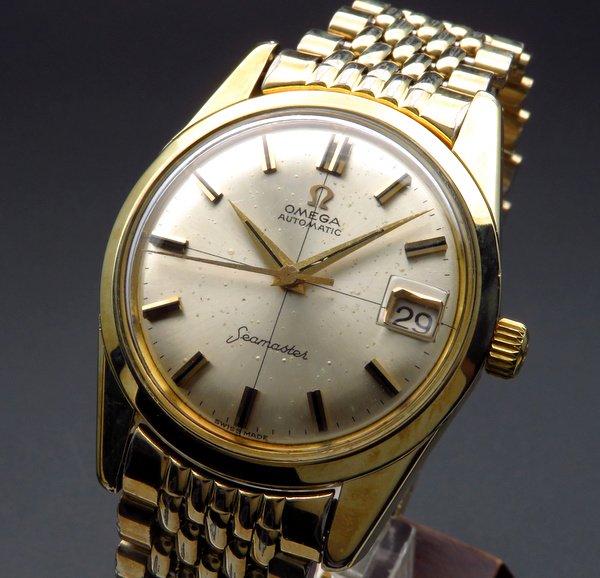 1960年 〜 1969年    1962年製 オメガ アンティーク シーマスター cal562 クロスライン ライスブレス ゴールドキャップ【OH済】