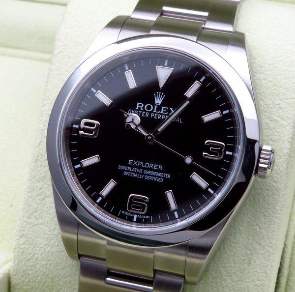 ロレックス - Antique Rolex -   売切れ ロレックスROLEX エクスプローラー� 214270 ランダム品番 ブラックアウト文字盤【中古A品】【OH・新品仕上げ済】