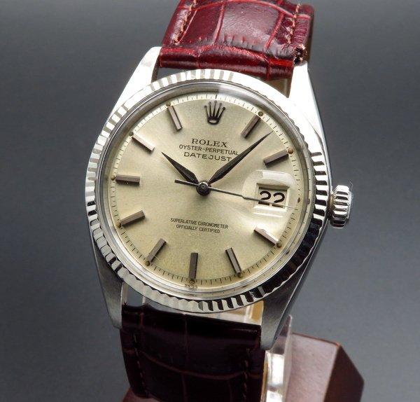 ロレックス - Antique Rolex -   完売  【OH済】1963年 アンティーク ロレックス デイトジャスト 1601 WGベゼル CAL1560 自動巻