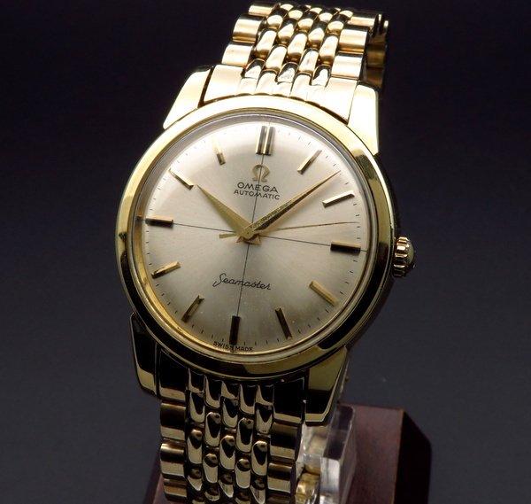 即納品  1961年 アンティーク オメガ シーマスター cal552 ゴールドキャップ クロスライン ノンデイト【OH済】