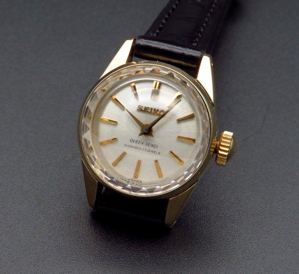 セイコー -Antique seiko -    1965年 アンティーク クィーン セイコー CAL1020C カクテル 14GF 金張り 手巻 王冠マーク【OH済】