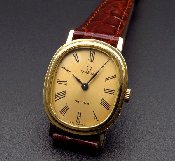 即納品  1974年 オメガ アンティーク cal625 DE VILLE 手巻き レディース ゴールドキャップ【OH済】