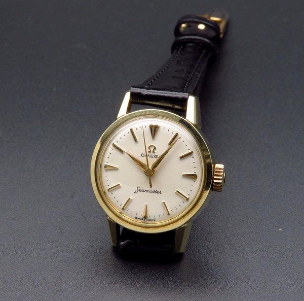 即納品   1959年 オメガ アンティーク cal252 シーマスター 手巻 レディース ゴールドキャップ【OH済】