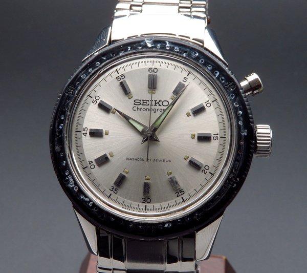 セイコー -Antique seiko -   1964年 初期型 アンティーク セイコー REF45899 東京オリンピック記念モデル ワンプッシュ クロノグラフ 手巻き 21石 希少