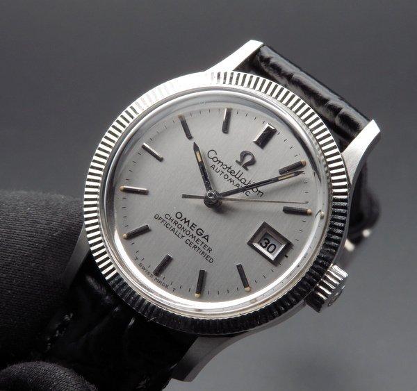 即納品  1970年 アンティーク オメガ コンステ WGコイン CAL682 自動 レディース【OH済】