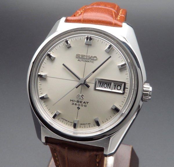 即納品  1968年 グランドセイコー アンティーク 6146-8000 61GS デイデイト クロスライン【OH済】