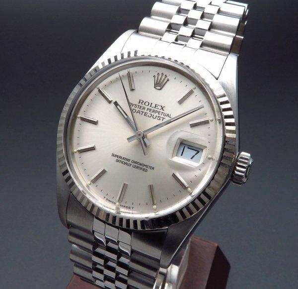 即納品  1986年製 USED ロレックス デイトジャスト 16014 WGベゼル 新品仕上 CAL3035【OH済】