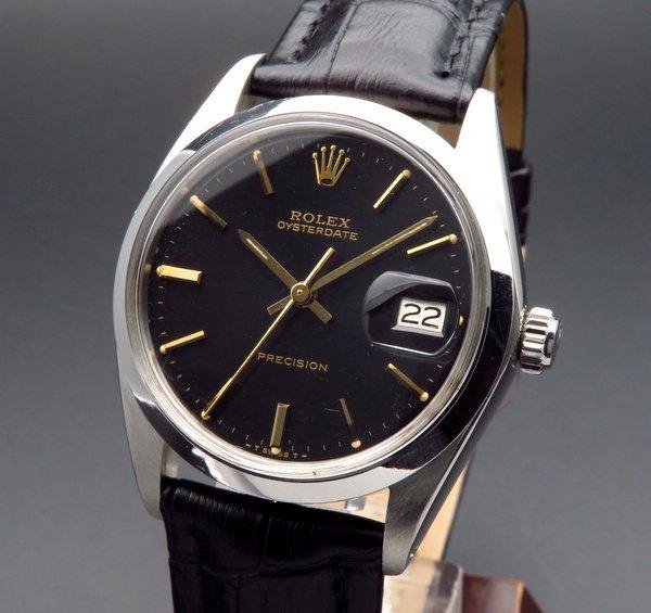 ロレックス - Antique Rolex -   売り切れ 1981年 ロレックス アンティーク ref6694 オイスターデイト 手巻 ゴールドインデックス cal1215【OH済】